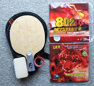 Fast Attack Short Pips-out Ti+Carbon Custom-made Table Tennis Bat, Short Penhold