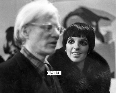 Liza Minnelli Wearing a Fur Coat with Andy Warhol at an Event Photo