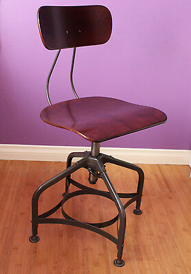 Uhl Toledo Chair Stool Swivel Draft Desk Industrial Refinished More Available