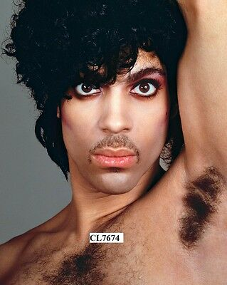 Prince Rogers Nelson Barechested Poses for a Studio Portrait Beefcake Photo
