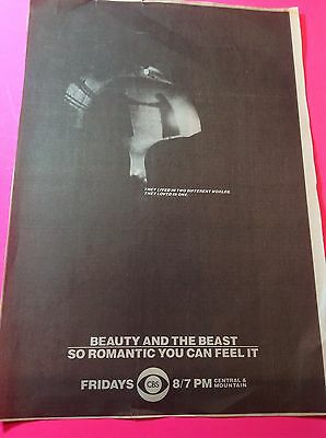 Vintage Beauty And The Beast CBS Television Advertisement RON PERLMAN