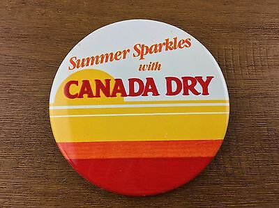 Summer Sparkles with CANADA DRY Soda Vintage Pin Back Button