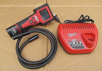 Milwaukee Digital Inspection Camera 12V Cordless M12 Auto Tool 2310-21 Charger +