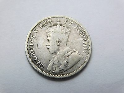 1911 Canada silver dime 10 cents coin foreign (1624)