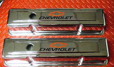 Valve Cover Set Small Block Chevy Tall Chrome Plated Chevrolet New 3 5/8 Height