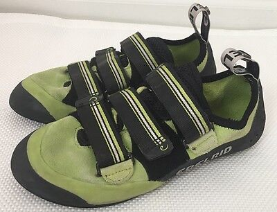 Edelrid Sigwa Climbing Rock pull straps Shoes Lime Green UK 6 US Men 7 EU 39.5