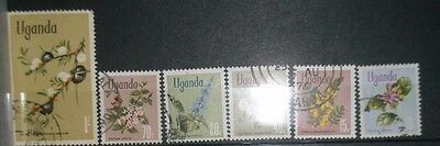 Small lot of stamps from Uganda