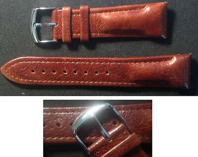 22mm wide brown / black calf leather watch band 4 your franck muller