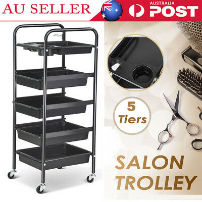 5 Layers Hairdresser Hairdressing Salon Spa Multi Function Trolley Storage Cart