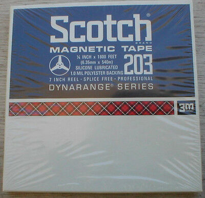 Scotch Blank 1/4 inch Recording Tape 1800 feet factory sealed