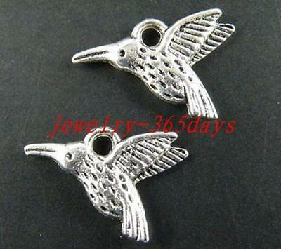 15pcs Tibetan Silver Birds Charms Pendants 18x12x3mm 12015