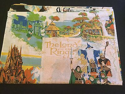 Lord Of The Rings LOTR Twin Bed Sheet 1979 Ralph Bakshi Bedsheet Tolkien Cannon
