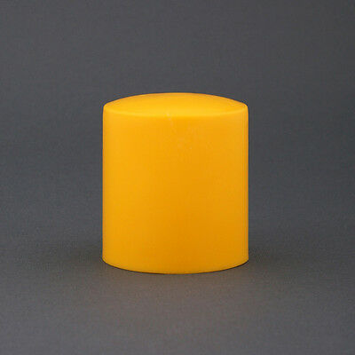 100 Pack. Safety Star Picket Post Caps. Reo Bar Yellow Plastic Poly Covers.