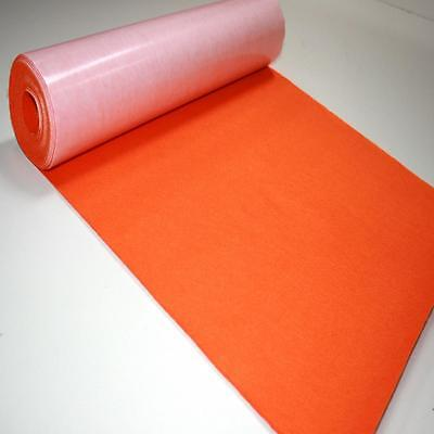 BS EN 71 JAFFA ORANGE Sticky Self Adhesive Felt Baize Fabric Mini 5m Rolls UK MA