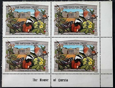 Cinderella – National Trust Stamps – Corner Block of 4 – RARE (MNH) (Se1a)