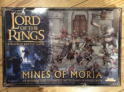 LORD OF THE RINGS MINES OF MORIA strategy battle game Complete