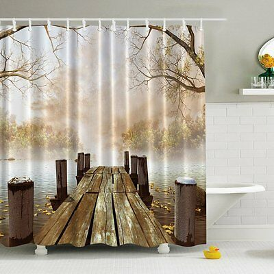 Tenda Doccia 180x180CM, Impermeabile Stampa Digitale Enchanted Forest (t8x)