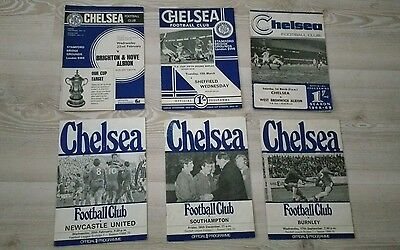 Chelsea Programmes x 6 from 1960's