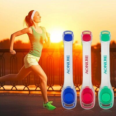 LED Warning Light Band Armband Safety Reflective Belt Running Cycling Strap