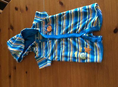 boys 3/6 months towelling all in one