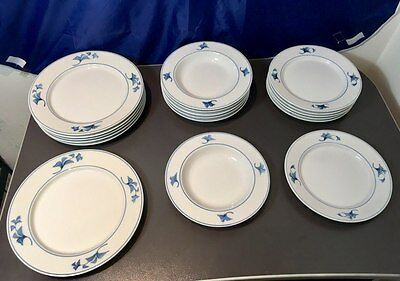 Royal Copenhagen Noblesse Blue & White tableware set for 6 ( 18 pcs.) NEW