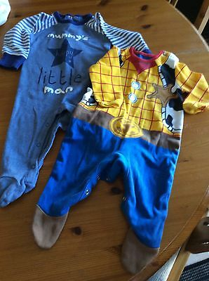 boys babygrows 3-6 months Woody And Mummy's Little Man