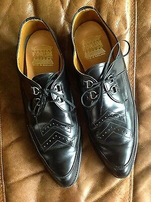 vintage mens winklepickers goth rockerbilly creepers uk 11 real leather UK shoes
