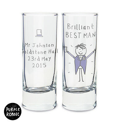 PERSONALISED Wedding Party Shot Glass. GROOM. Wedding Gift Idea Favour Thank You