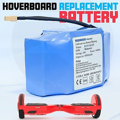 Hoverboard Replacement Battery Self-Balancing Scooter Hover Board 4.0A 144wh 36V