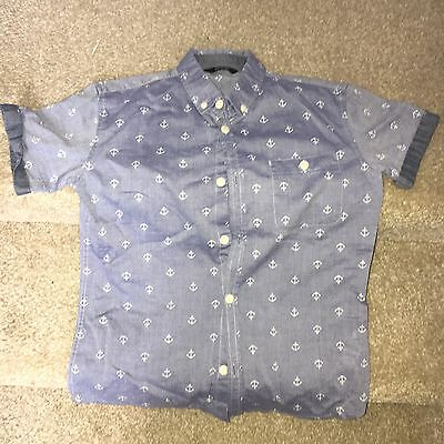 Boys George Anchor Short Sleeve Shirt Age 8-9 Years