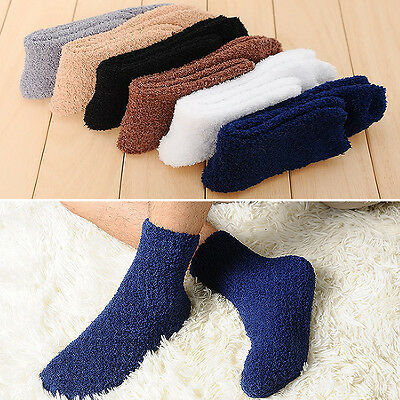 Newly  Man Bed Socks Pure Fluffy Thick Warm Winter Soft Floor Home Foot Clothing