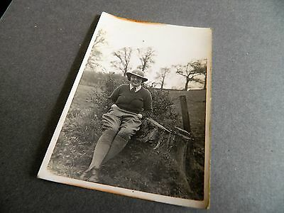 WW11 real photo postcard  of land armygirl in uniform