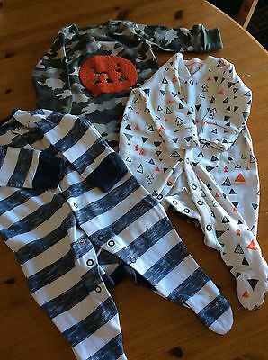 bundle 3 boys baby grows Next up to 3 months