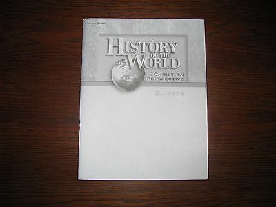 History of the World in Christian Perspective Student Quizzes 3rd Ed.2013 A Beka