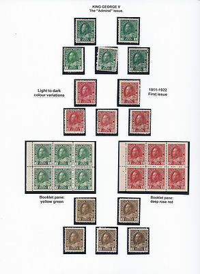 Canada 1911-22 Study Of First Issue Of Admirals M & U As Shown (34) Cat £900+