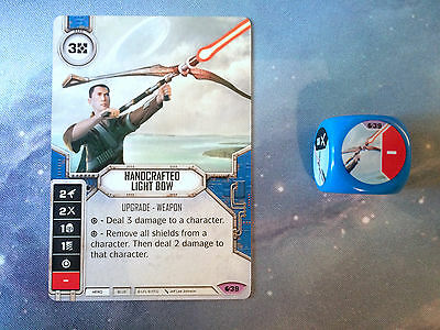 Star Wars Destiny Handcrafted Light Bow Legendary Card and Dice