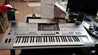 Tyros 4 keyboard with stand and stool speakers and bass photos will follow.