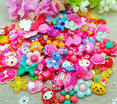 10Pc Lot Wholesale Lots Mix Assorted Diy Flat Back Resin Buttons Scrapbooking Ne