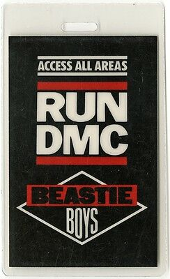 Run DMC authentic 1987 concert tour Laminated Backstage Pass Beastie Boys AA