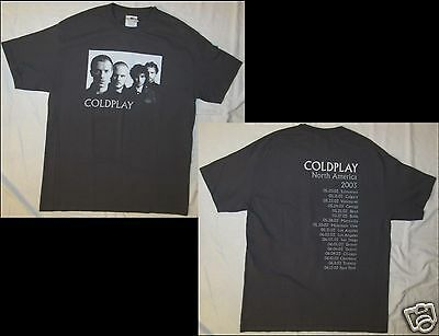 COLDPLAY North America 2003 Size Large Gray T-Shirt