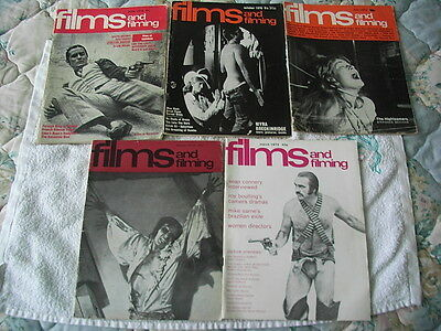 Collection of 5 Film and Filming Magazines