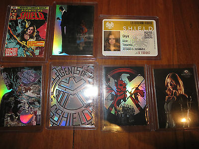 Marvel Agents of Shield - Insert card lot 7 trading cards