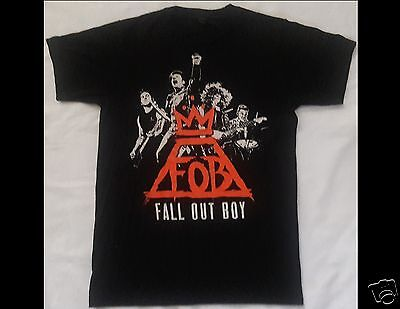FALL OUT BOY Monumentour 2014 Size Small Black T-Shirt