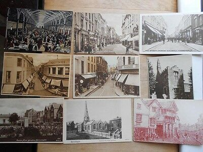 35 x old postcards of Barnstaple - attractive job lot - North Devon