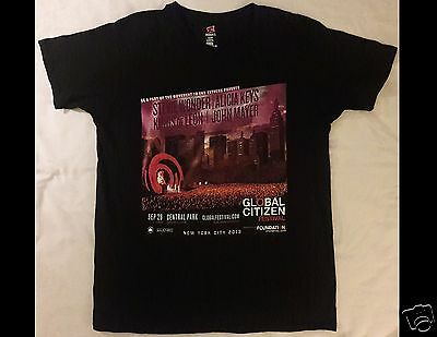 Global Citizen Festival 2013 ALICIA KEYS STEVIE WONDER Size Large Black T-Shirt