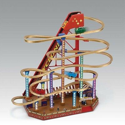 Mr Christmas Gold Label World Fair Led Lighted Grand Roller Coaster Collection