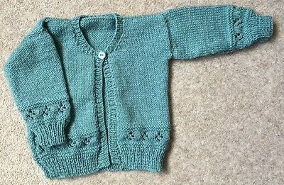Brand New Hand Knitted Baby's Cardigan 3-6 Months