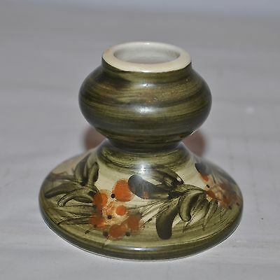 Jersey Pottery - Candlestick / Candle Holder   hand painted