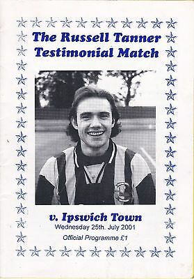 Braintree Town  v Ipswich Town - Russel Tanner testimonial 2001/02 25 July 01