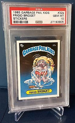 Frigid Bridget 32a ~ Garbage Pail Kids UK Series 1(1985)PSA 10 Gem ~ Ultra Rare